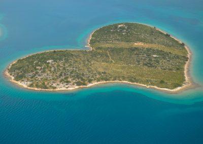 szív alakú sziget