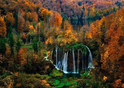 plitvicei tavak ősszel